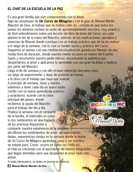 Imagen de Qué es la Escuela de la paz - Manuel Martín, maestro de dios